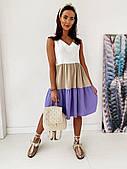 Женское стильное летнее платье (5 расцветок)
