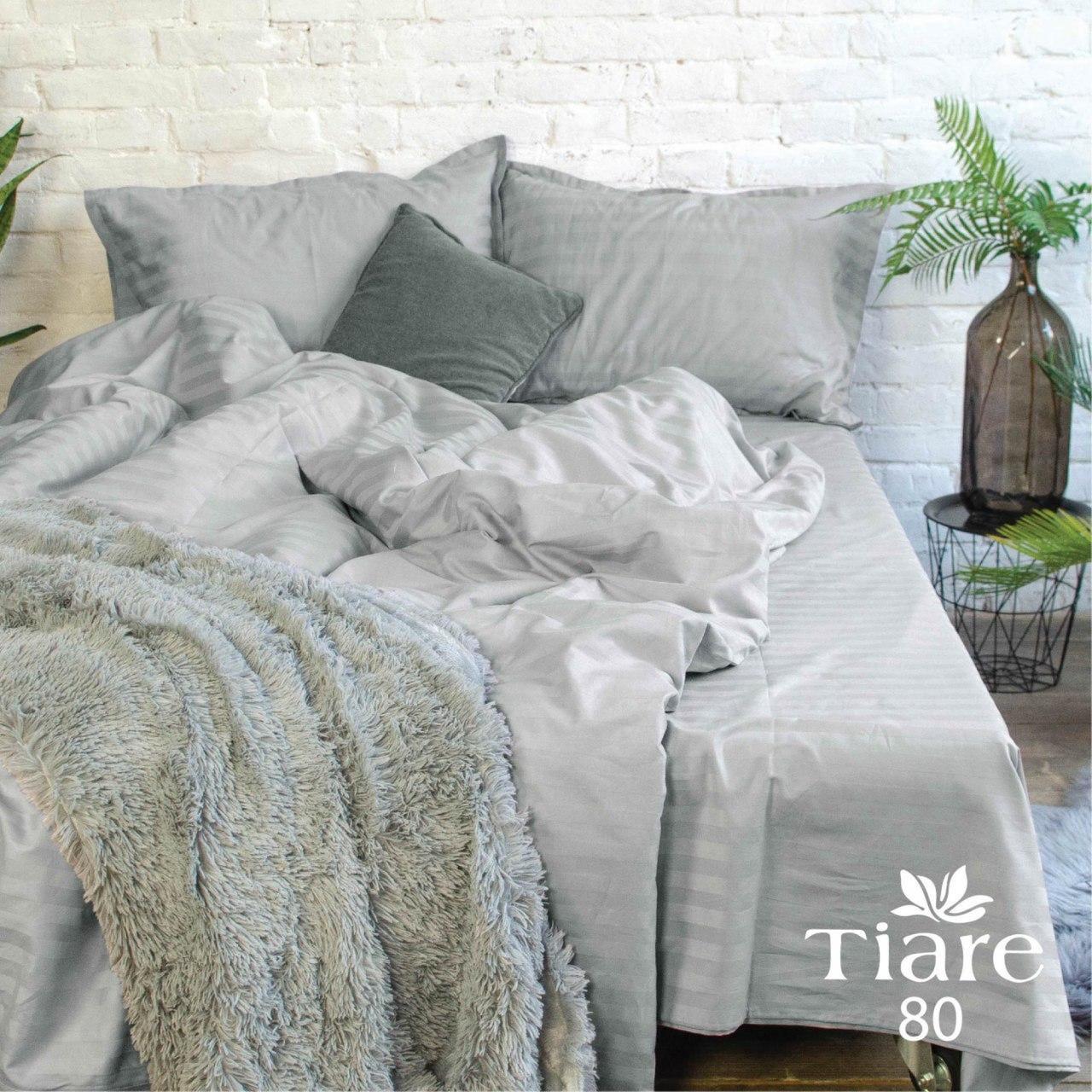 Комплект постельного белья Семейний Сатин Stripe 80 Tiare™