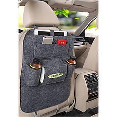 Органайзер для спинки сидіння автомобіля Vehicle mounted storage bag Чорний