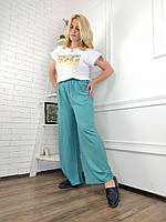 """Штани жіночі, літні, яскраві на резинці, розміри 3XL-6XL (5кол) """"FIESTA"""" недорого від прямого постачальника"""