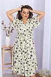 Платье летнее миди  из вискозы в цветочный принт  Пейдж-Б к/р, фото 3