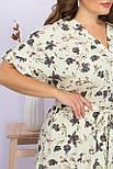 Платье летнее миди  из вискозы в цветочный принт  Пейдж-Б к/р, фото 5