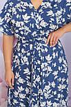 Плаття літнє міді з віскози у квітковий принт Пейдж-Б к/р, фото 5
