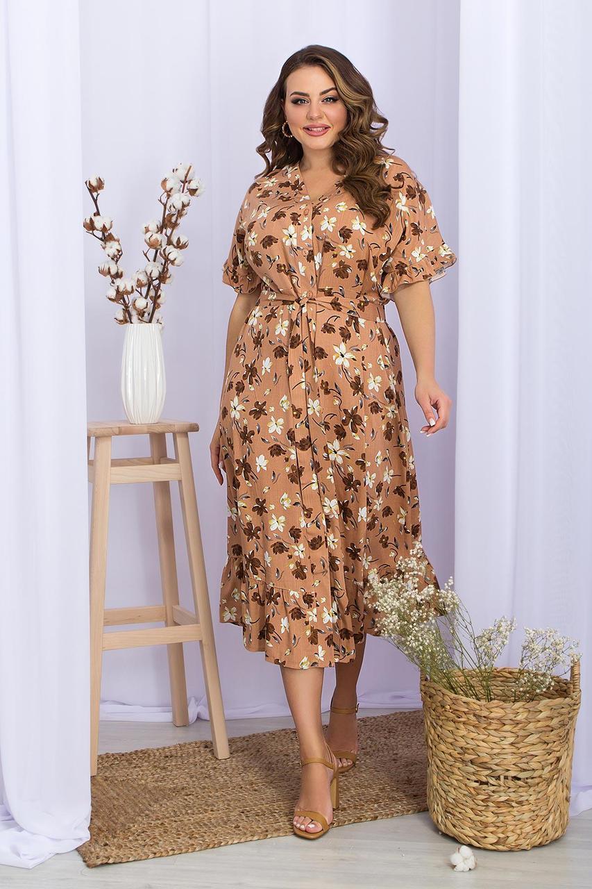 Плаття літнє на запах з віскози у квітковий принт Пейдж-Б к/р