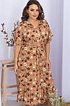 Платье летнее на запах  из вискозы в цветочный принт  Пейдж-Б к/р, фото 2