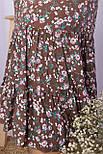 Платье  летнее из вискозы с оборкой в цветочный принт Пилея-Б к/р, фото 4