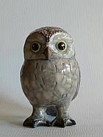 Настольная скульптура Воробьиный сыч. Керамика, ручная работа.
