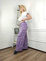 """Штани жіночі, літні, яскраві на резинці, розміри 3XL-6XL (2цв) """"FIESTA"""" недорого від прямого постачальника"""