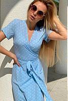 Летнее длинное платье на запах В 033/ 04, фото 1