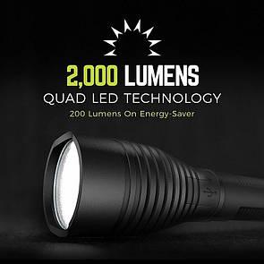 Оригинал Перезаряжаемый фонарь Rayovac The BEAST USB Rechargeable Lithium Flashlight 2000 Lumens RWP18650-B