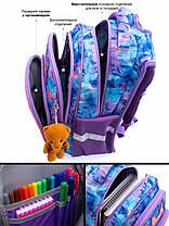 Рюкзак для девочки в 1-4 класс школьный ортопедическая спинка три отдела принт Олененок SkyName R3-230, фото 3