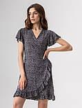 Приятное короткое летнее платье на запах в цветочный принт с V-вырезом в 5 цветах в размере S, M, L, фото 5