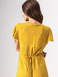 Приятное короткое летнее платье на запах в цветочный принт с V-вырезом в 5 цветах в размере S, M, L, фото 6