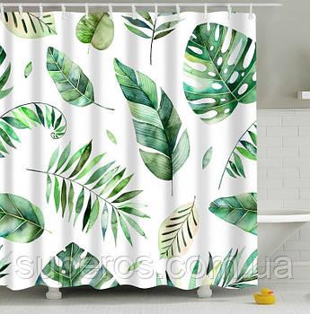Тканинна шторка для ванної душа 180х200 см Herbarium
