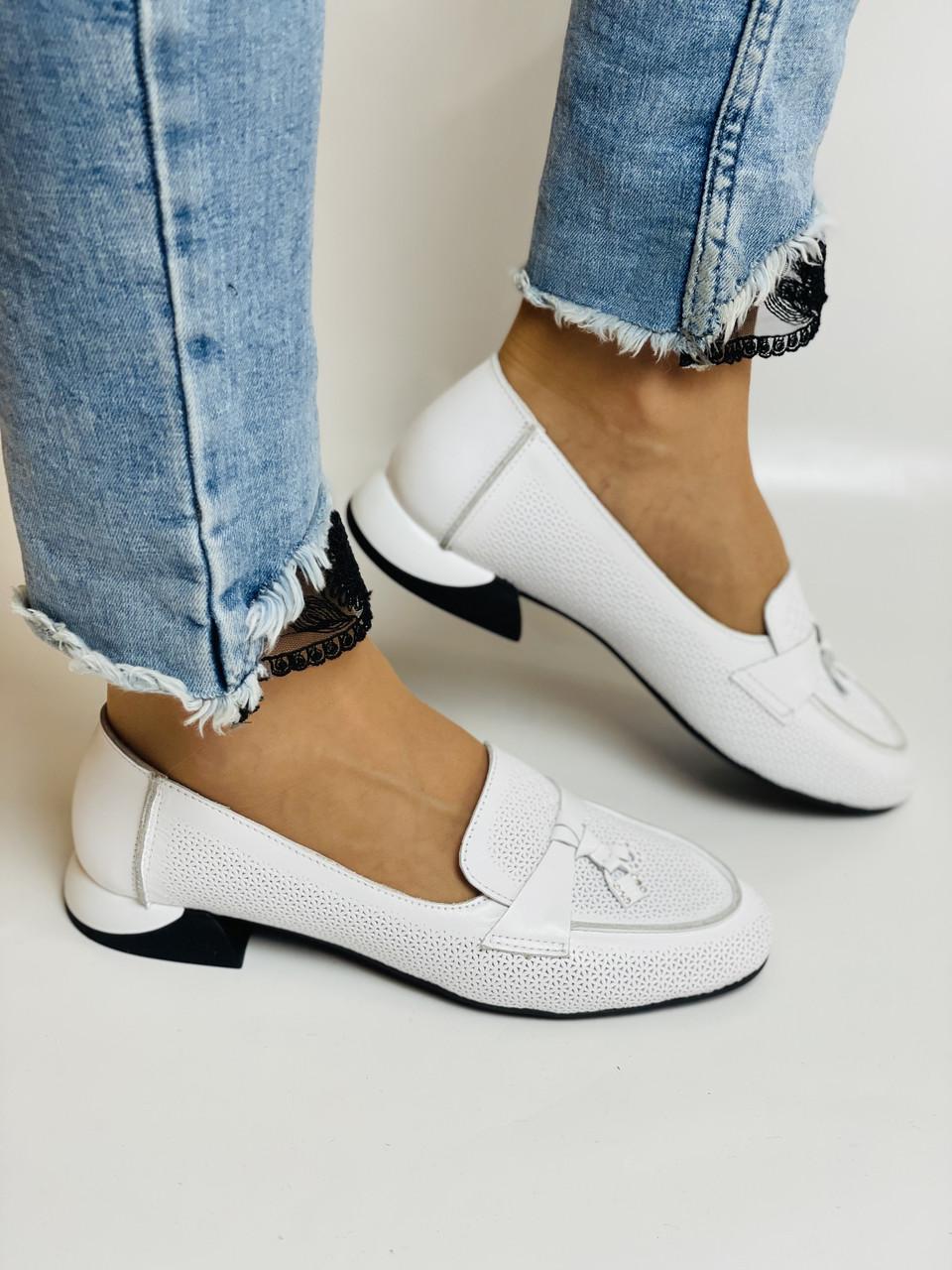 Ripka. Жіночі літні туфлі-балетки з перфорацією білого кольору. Туреччина. Розмір 36.37.38.39.40.Vellena