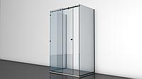 Пристенная стекляная душевая кабина с раздвижной дверью