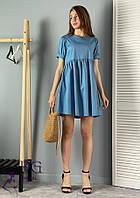 Летнее коттоновое платье мини  047 В/01, фото 1