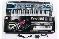 Детское пианино Синтезатор MQ-017 UF Electronic Keyboard с микрофоном, 49 клавиш, LED дисплей, радио, USB.