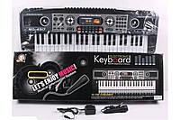 Детское Пианино Синтезатор MQ 4917 Electronic Keyboard с микрофоном, 49 клавиш, LED дисплей