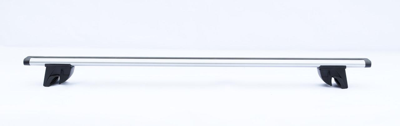 Багажник на дах авто з інтегрованим рейлингом Terra Drive In-Fix Wing 1,2 м, сірий металік