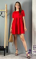 Летнее коттоновое платье мини  047 В/02, фото 1