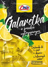 Желе (галаретка) со вкусом лимона Galaretka Emix, 79г (Польша), Оригинал