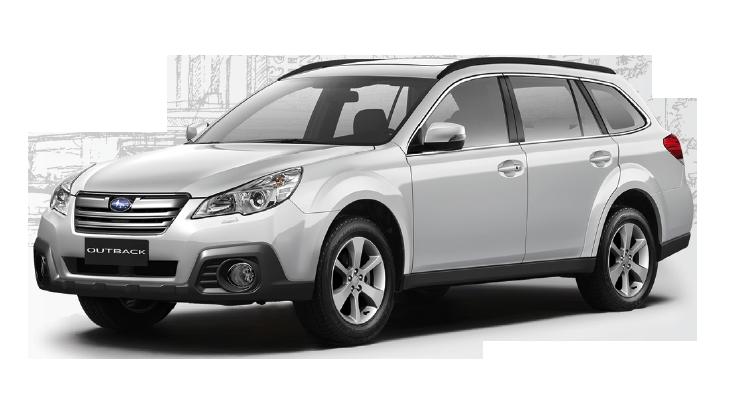 Багажник на крышу авто Кенгуру Subaru Outback BP 2003-2009, BR 2009 - 2011
