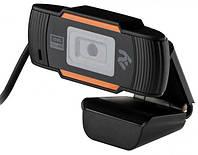 Веб-камера FullHD 2E 2E-WCFHD USB микрофон чёрн.+оранж. новая