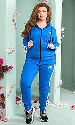 Спортивный костюм женский, батал, цвет электрик  830971, 48-50, 52-54р.