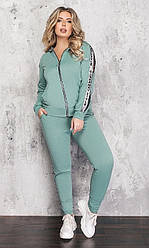 Спортивный костюм женский, батал, цвет оливка  830972-1, 50-52, 54-56, 58-60р.
