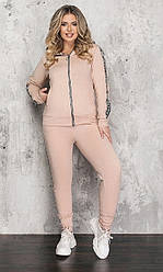 Спортивный костюм женский, батал, цвет беж  830972-2, 50-52, 54-56, 58-60р.