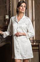 """Рубашка """"Ангелина"""" 9537 S белый (9537 - Женская домашняя одежда)"""
