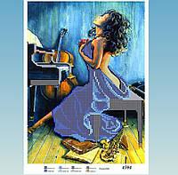 Юма 4594 Схема для вишивки бісером Дівчина в синьому .