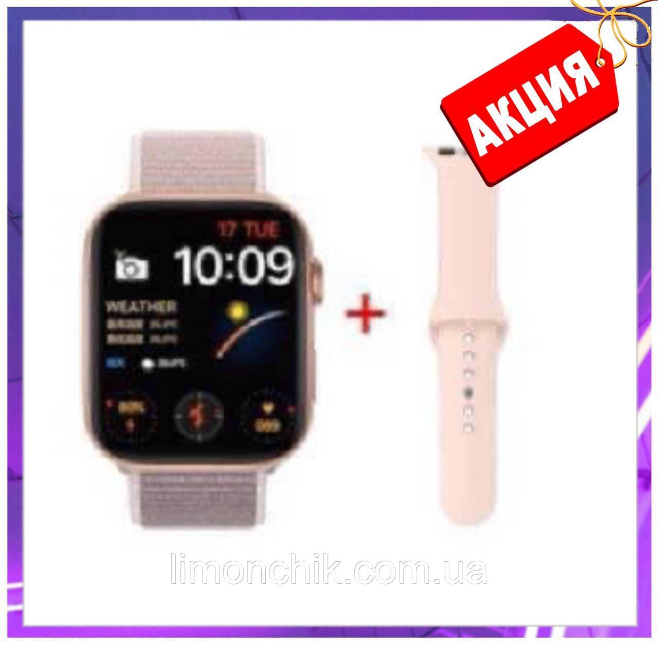 Розумні смарт годинник Smart Watch FK-88 сенсорні наручні пульсометр шагометр фітнес трекер золото