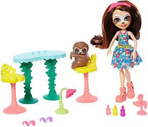 Игровой набор Энчантималс Салон красоты Сэлы Ленни с ленивцем EnchantimalsSela Sloth Оригинал