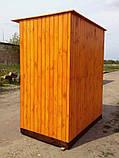 Душ дерев'яний літній (з передбанником) з імітації бруса закритого типу (в розібраному вигляді), фото 2