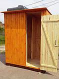 Душ деревянный летний (с предбанником) из имитации бруса закрытого типа (в разобранном виде), фото 3