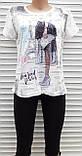 Жіноча футболка рванка M/L Париж, фото 3