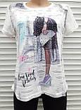 Жіноча футболка рванка M/L Париж, фото 9