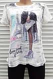 Жіноча футболка рванка M/L Париж, фото 7