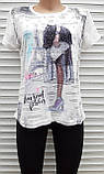 Жіноча футболка рванка M/L Париж, фото 5