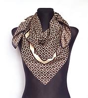 Шелковый платок Энди G 90*90 см коричневый