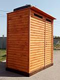 Душ дерев'яний літній (з передбанником) з блок-хауса закритого типу (в розібраному вигляді), фото 2