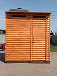 Душ дерев'яний літній (з передбанником) з блок-хауса закритого типу (в розібраному вигляді), фото 3
