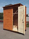 Душ деревянный летний (с предбанником) из блок-хауса закрытого типа (в разобранном виде), фото 4
