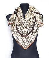 Шелковый платок Энди G 90*90 см бежевый