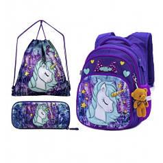 Рюкзак школьный для девочек SkyName R3-241 Full Set