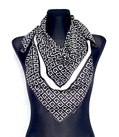 Шелковый платок Энди G 90*90 см черно-белый