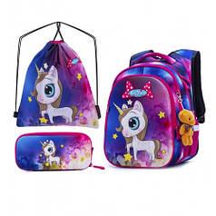Рюкзак школьный для девочек SkyName R1-013 Full Set