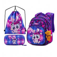 Рюкзак школьный для девочек SkyName R3-231 Full Set